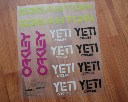 YETI Collection Decals/Nalepky